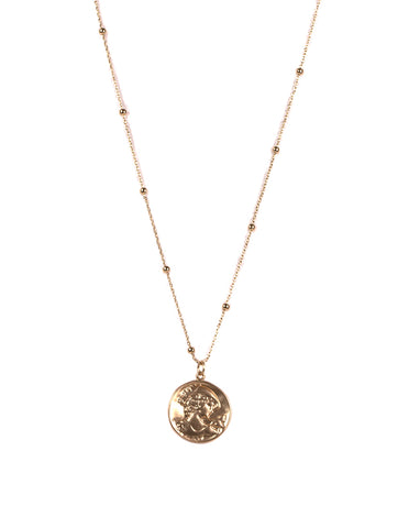 Willow Sprite Coin Necklace Gold