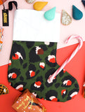 Green Leopard Print Stocking