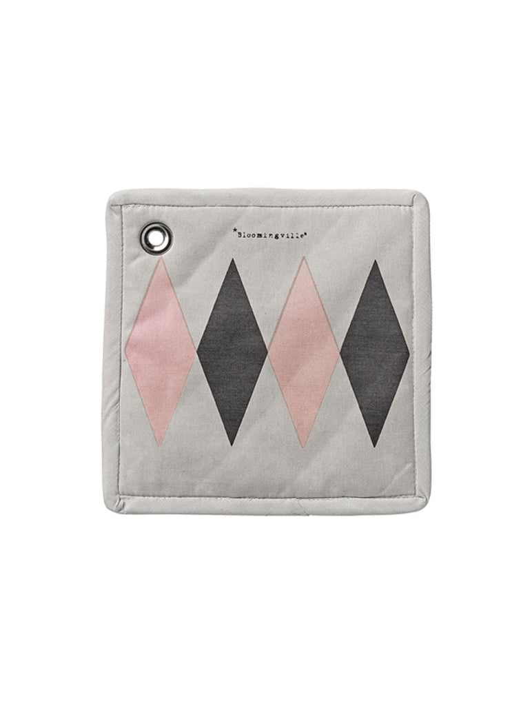 Grey Diamond Design Potholder