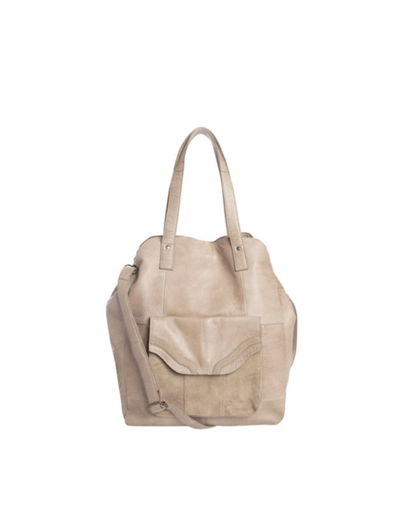 Gro Leather Shopper Tan