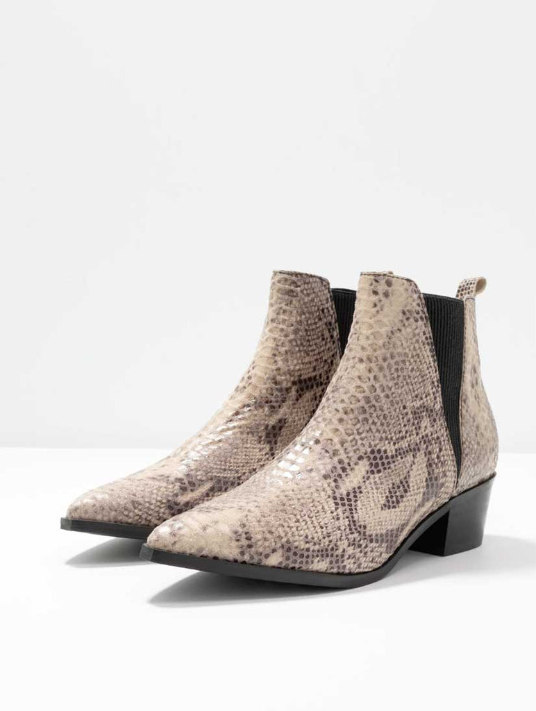 Hara Leather Snake Boot