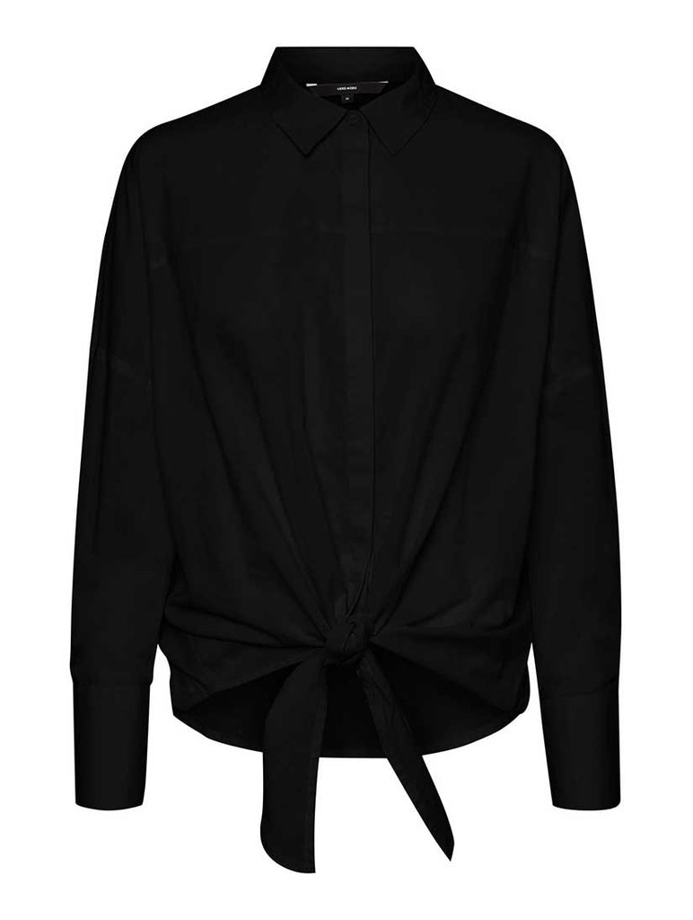 Helly Tie Front Shirt Black