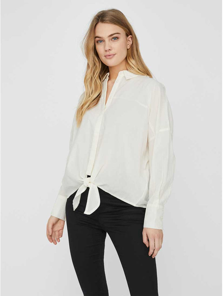 Helly Tie Front Shirt Birch