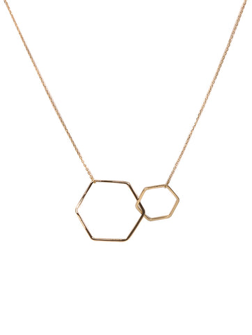 Ariel Entwined Hexagons Necklace Gold