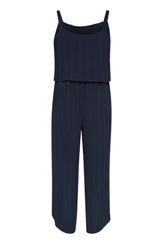 Hilla Pleated Jumpsuit Total Eclipse