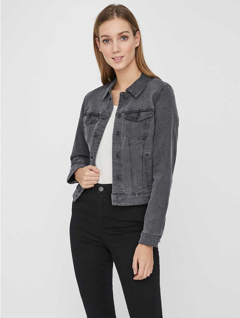 Hot Soya Denim Jacket Medium Grey Denim