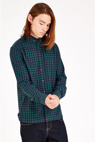 Vaynor Navy & Green Check Shirt