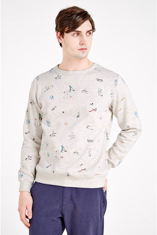 Grant Embroidered Sweater