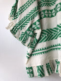 Embroidered Aztec Top Emerald Green
