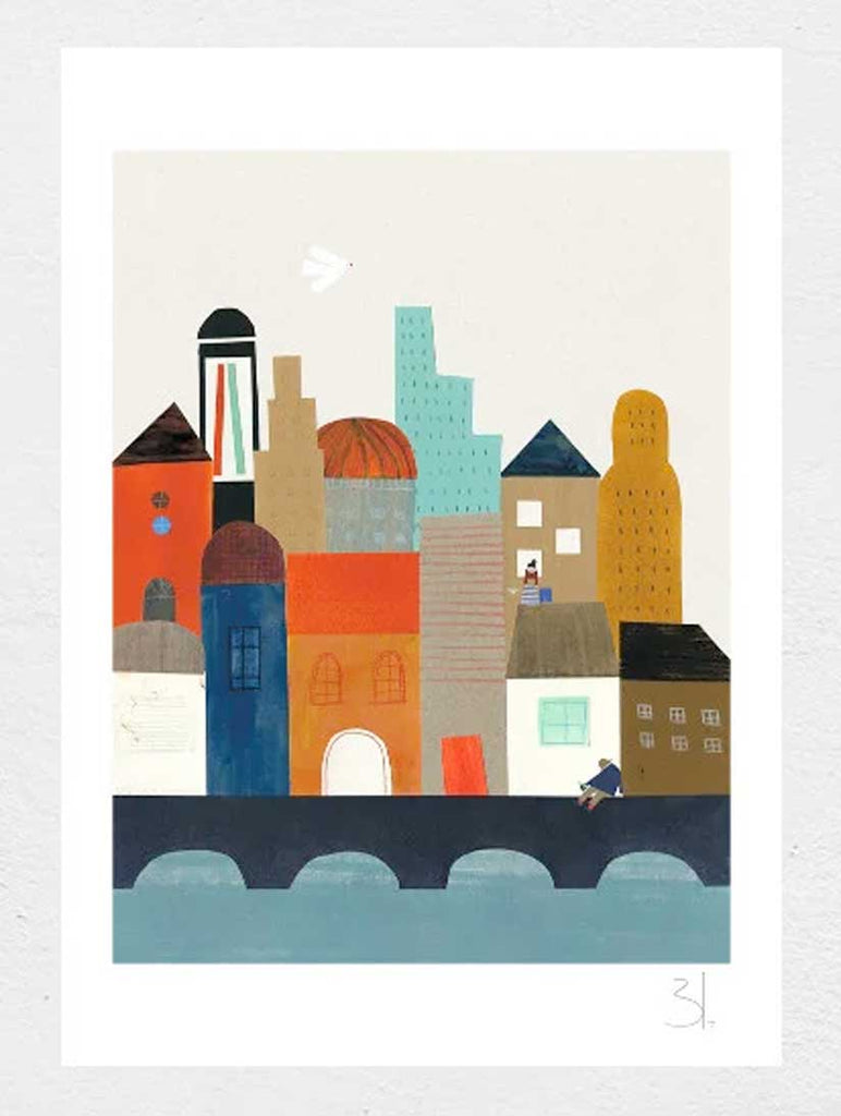Imaginary City A4 Print