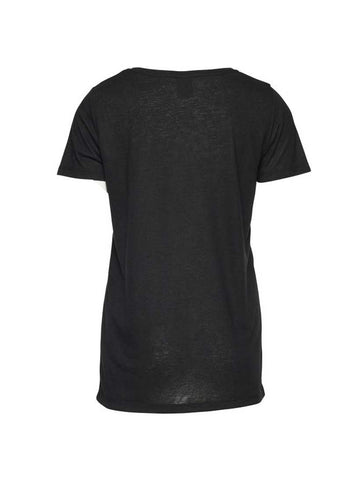 Jasmin T-shirt Black Solid T-shirt
