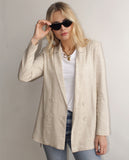 Jayla Double Breasted Blazer Beige
