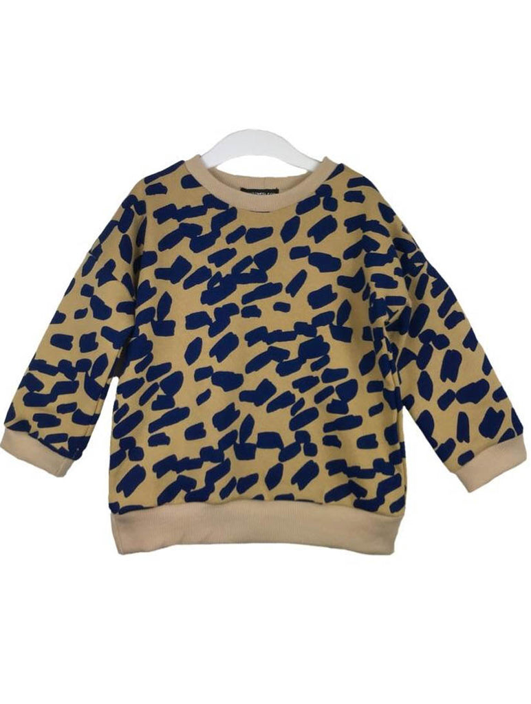 Jetty Allover Smudge Print Sweat