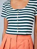 Paula Stripe Crop Top