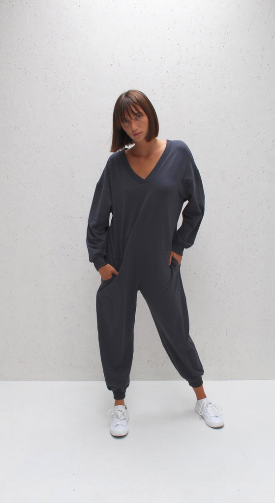 Julie All In One Jumpsuit- Charcoal
