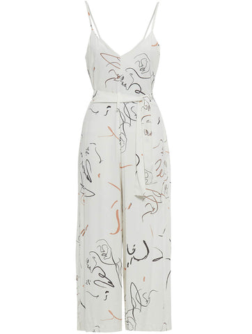 Solitary Thought Jumpsuit White