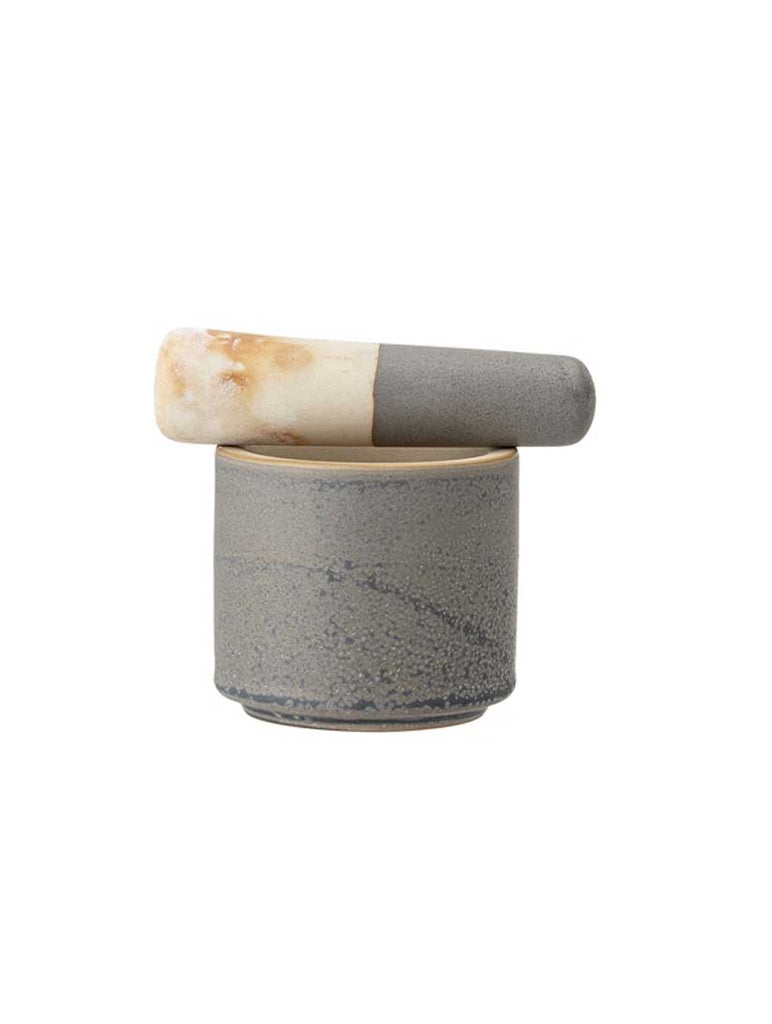 Kendra Mortor And Pestle Grey Stoneware