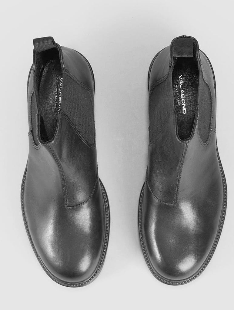 Kenova Black Leather Chelsea Boots