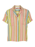 Kiklia Short Sleeve Stripe Shirt Peach Nectar