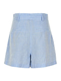 Kristin High Waisted Shorts Blue