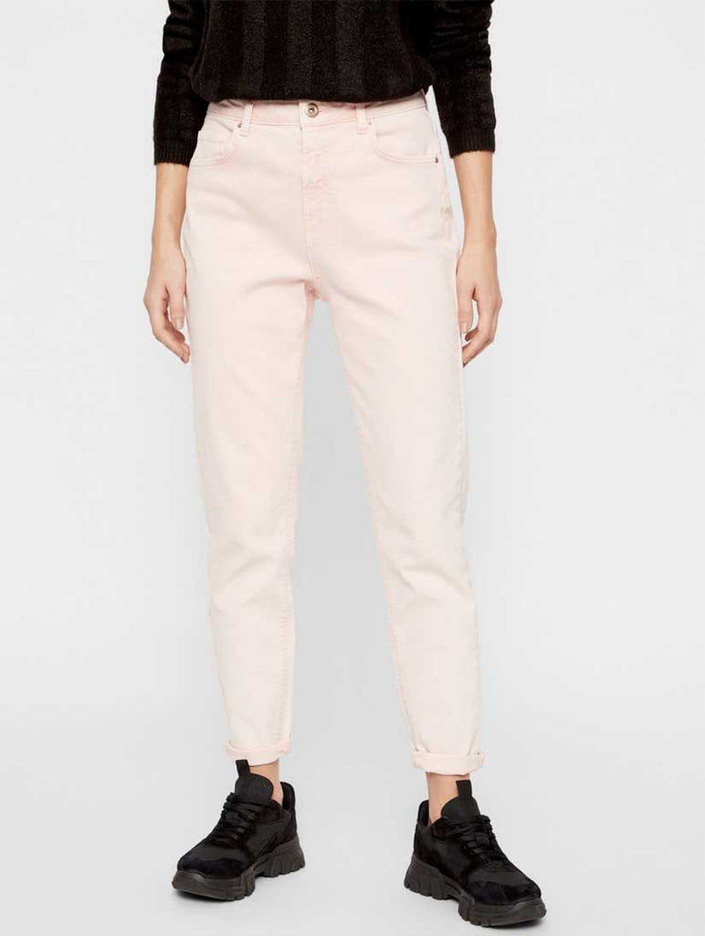 Leah Mom High Waisted Jeans Sea Pink
