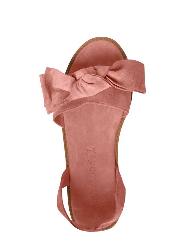 Lila Leather Bow Sandal Emberglow