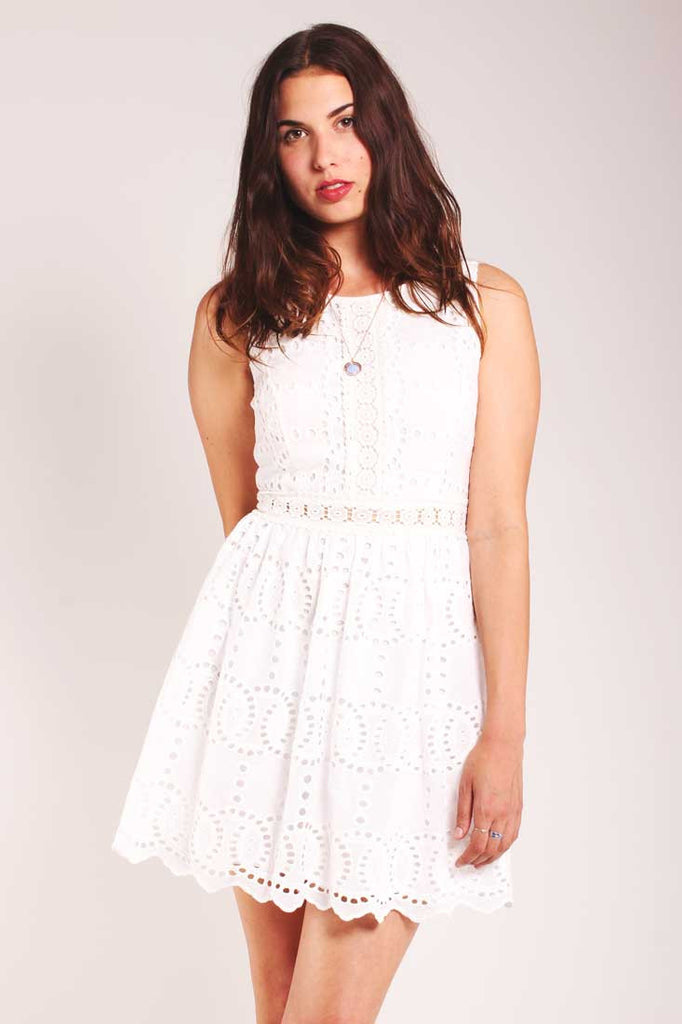 white embroidered sun dress Valley of the dolls