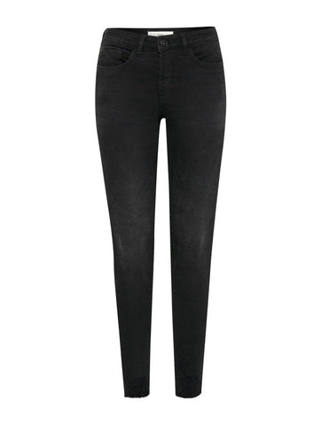 Lulu Genio Washed Cropped Jeans Black