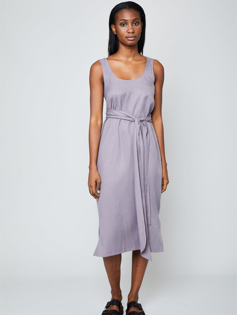 Mae Dress Mauve Grey