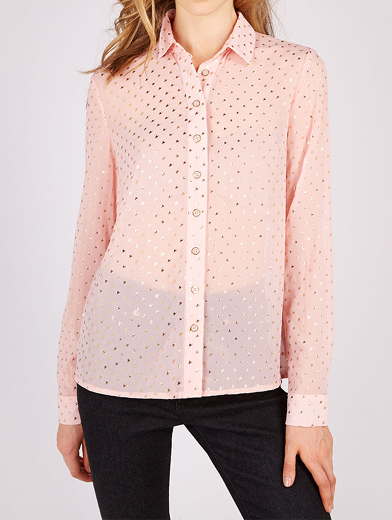 Manzie Metallic Print Shirt