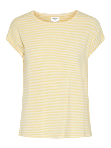 Ava Stripe Tee Mellow Yellow