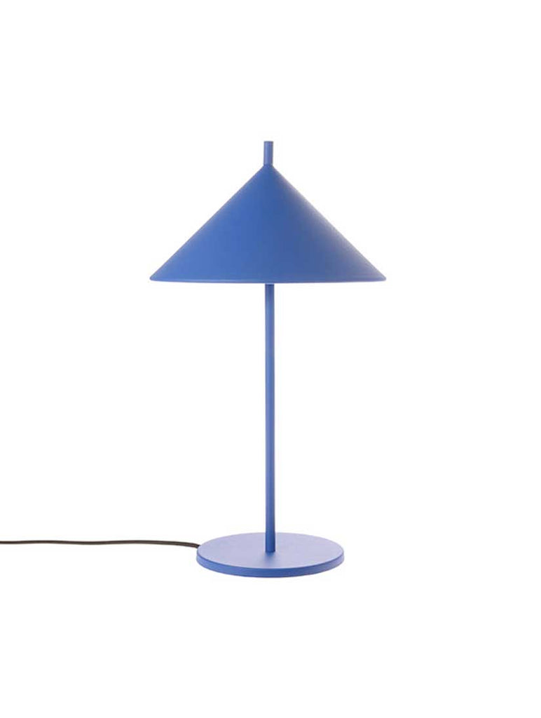 Metal Triangle Table Lamp Cobalt Blue