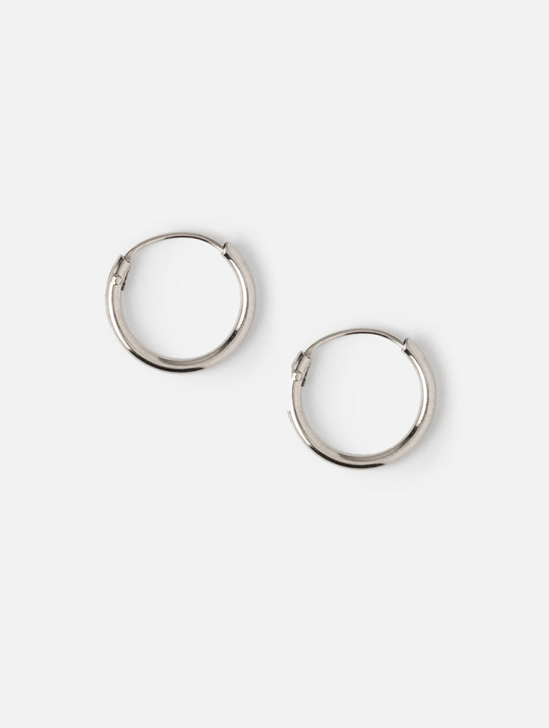 Micro Hoop Earrings Silver