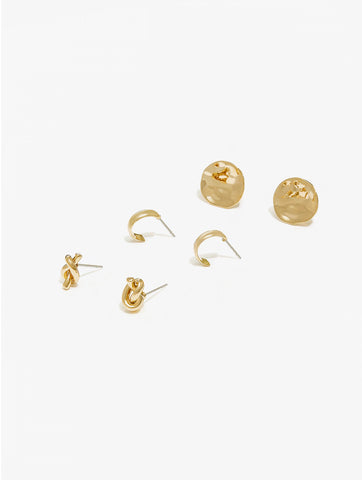 Gold Earrings Set