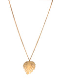 Lara Monstera Leaf Necklace Gold