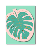 Monstera Leaf Cut Out Card
