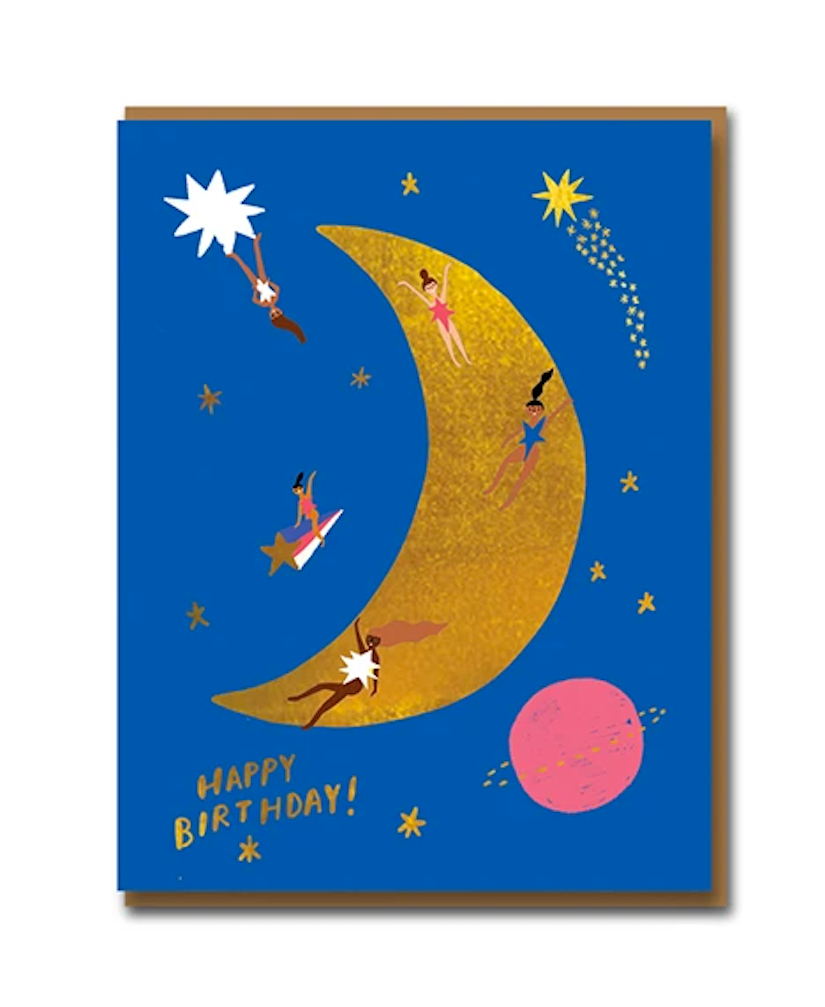 Moon Landing Foiled Card