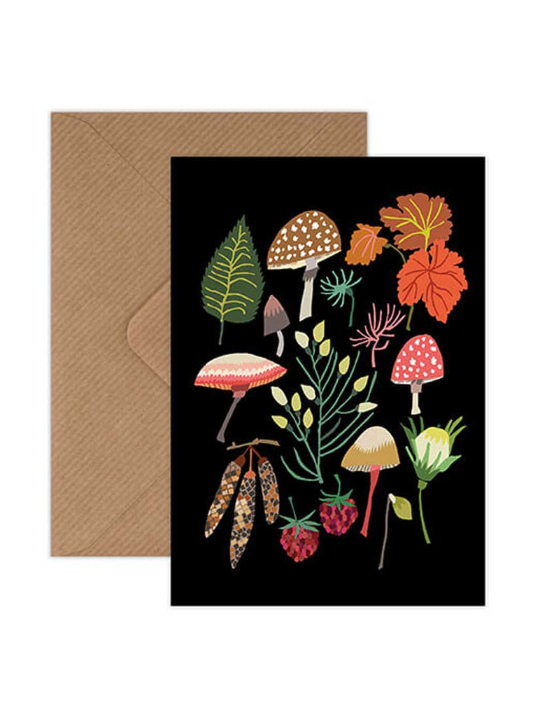 Mushroom and Moss Greeting Card