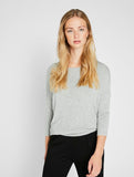 Musthave 3/4 Top Light Grey Melange