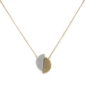 Gold/Silver Nadia Two Half Moon Necklace