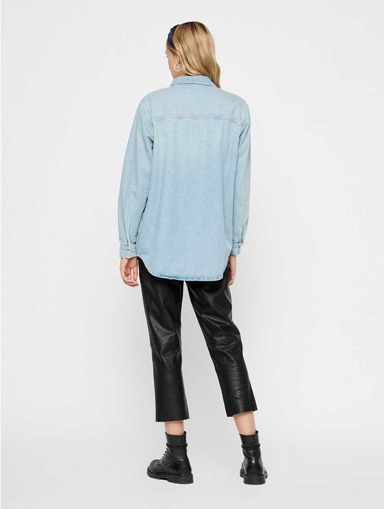 Nalia Denim Shirt Light Blue