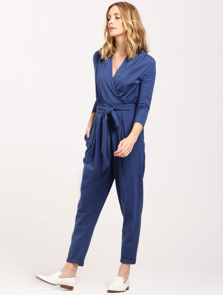 Peg Leg Blue Jumpsuit