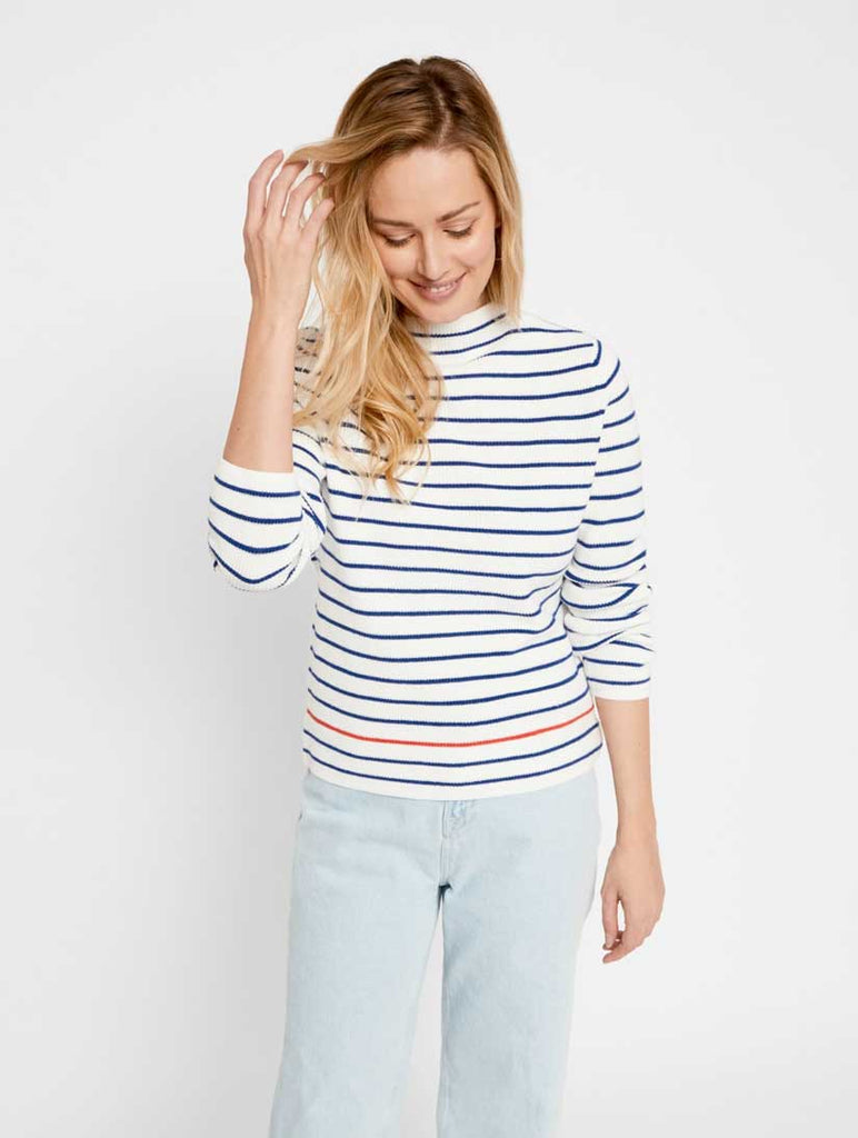 Nikita Stripe Top Cloud Dancer
