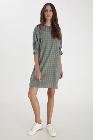 Ninnie Dress Deep Lichen Green