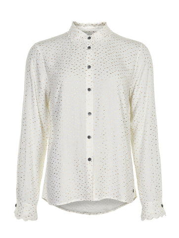 Iridiana Shirt With Gold Spot Pristine