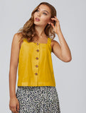 Othille Button Detail Camisole Yellow