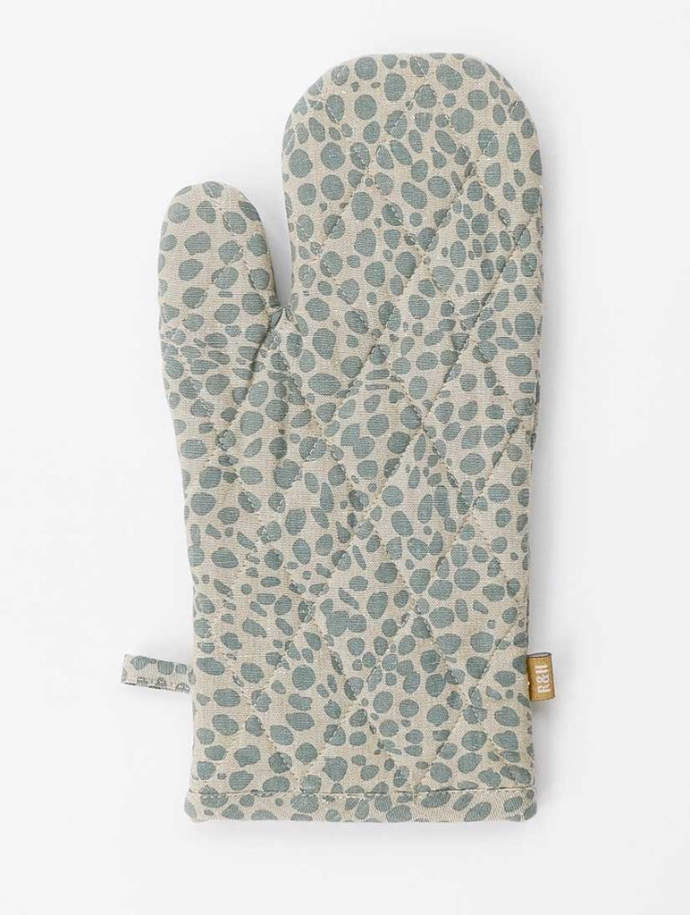 Animal Print Single Oven Glove Cheetah Blue