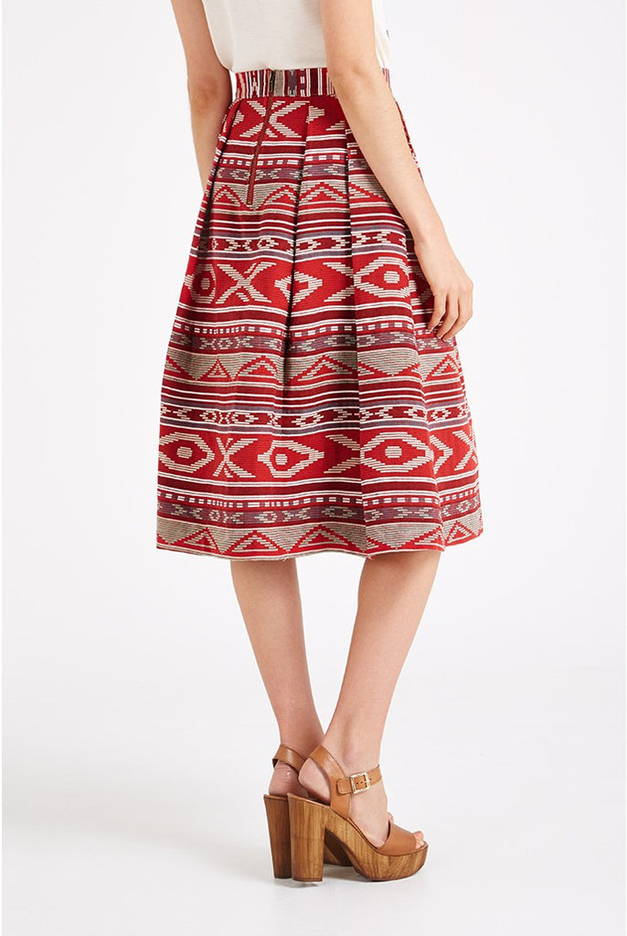 Pasadena Mexico Red Skirt