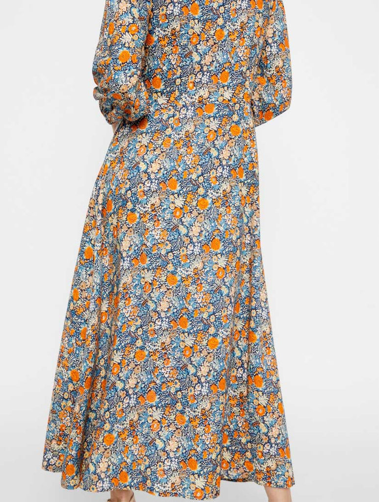 Pepitas Printed Long Dress