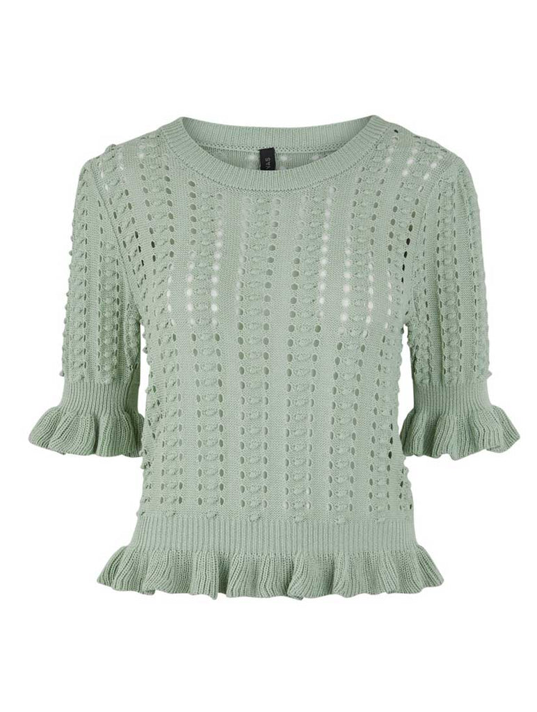 Perli Knit Top Misty Jade